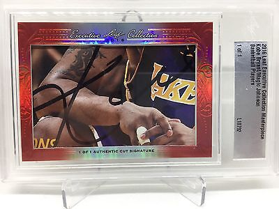 2016 Leaf Executive Collection Masterpiece Kobe Bryant Magic Johnson 1/1 Lakers