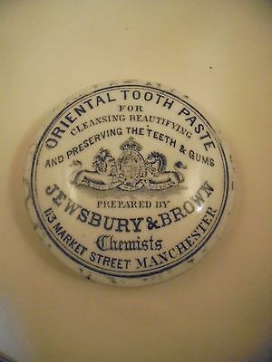 Attractive Jewsbury & Brown Tooth paste Manchester pot Lid