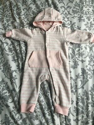 Baby Girls Hooded Onesie Early Days