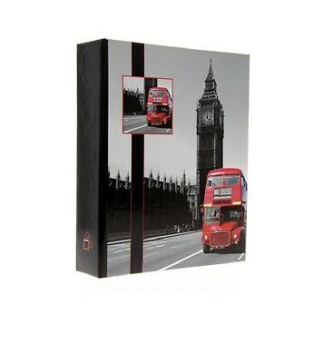 """Slip In Photo Album Holds 200 6"""" x 4"""" Photos Perfect Gift Selective London"""