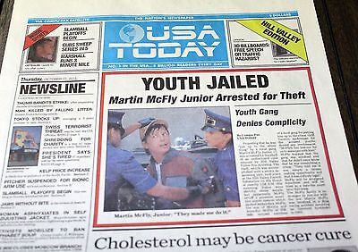 USA Today BACK TO THE FUTURE II Newspaper October 22 2015 prop
