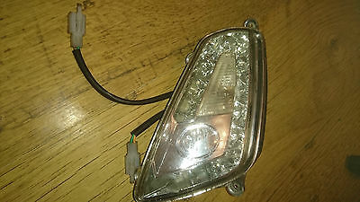 Cpi Bravo 50 2012 Chinese Scooter Front Left Hand Indicator Flasher Clear Lense