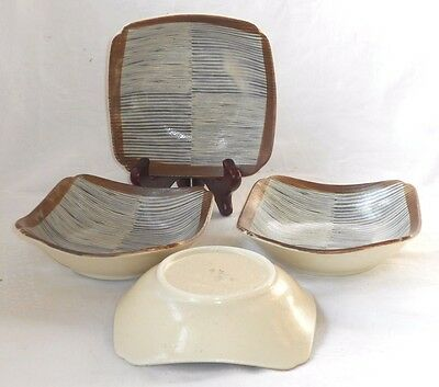 Four Art Pottery Cereal Bowls