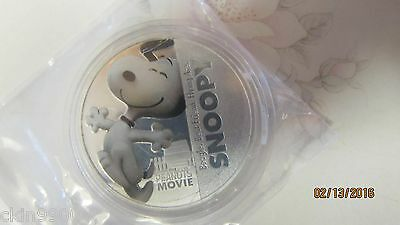 "The Peanuts Movie Snoopy Coin New Zealand Elizabeth ll 2015 ""SNOOPY COIN"" New"