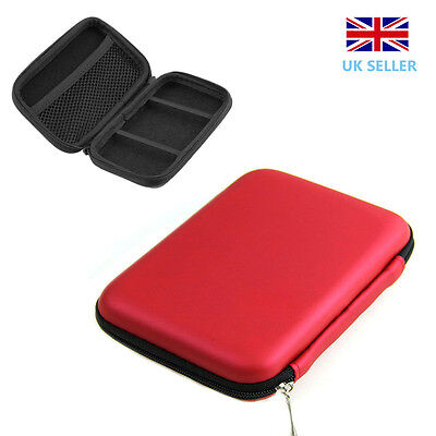 "2.5""Inch USB External Hard Disk Drive Carry Case Pouch for HDD PC&Laptop Red"