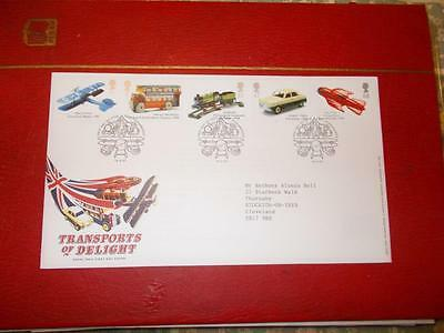 GB QEll FIRST DAY COVER TRANSPORTS OF DELIGHT in PRISTINE CONDITION