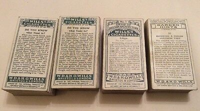 4 Lots Of Cigarette Cards