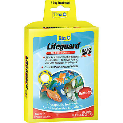 Tetra Lifeguard Tabs 32 Tablets All In One Treatment Halo Shield Remedy Freeship