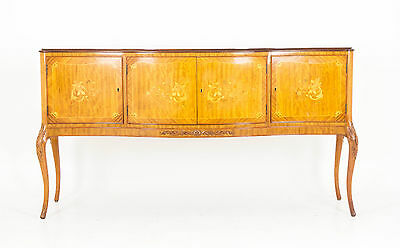 B543 Scottish Satinwood Inlaid Marquetry Sideboard, Console, Credenza