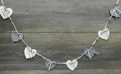 Shabby Chic Rustic Heart Garland /Bunting. Home Decor. Wood. Gift.