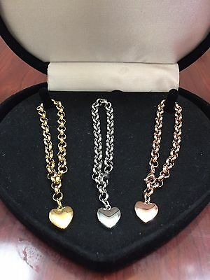 14K & Sts Rose Gold Yellow Gold Bracelet Set Of 3 + Free Charms Sz 5,6,7 Inch
