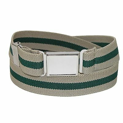 New CTM Kids' Elastic Striped Belt with Magnetic Buckle