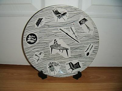 """1950's-60's RIDGWAY HOMEMAKER 9"""" PLATE ~ NO CHIPS OR CRACKS BUT SCRATCHED"""