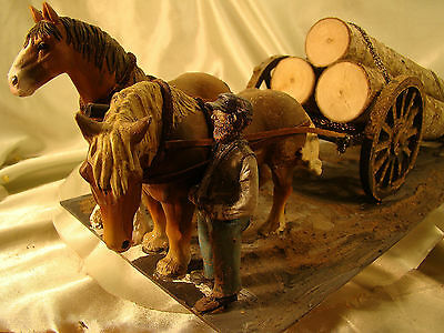 Horse Logging Diorama - handcrafted, custom weathered - G scale - lot 2