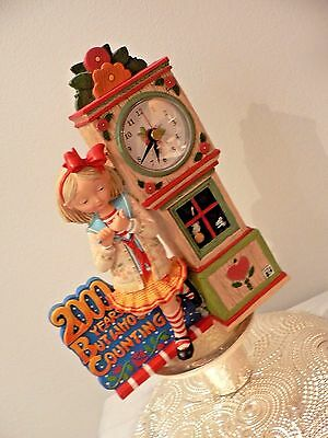 """Mary Engelbreit Enesco Girl Clock Red - """"2000 Years But Who's Counting"""" It Works"""