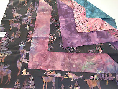 Woodland Batiks Patchwork and Quilting Wallhanging Kit