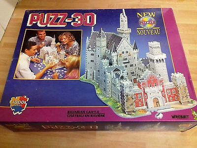 PUZZ 3D 1000 PIECE JIGSAW PUZZLE BAVARIAN CASTLE - COMPLETE by WREBBIT from 1995