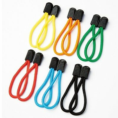 6Pcs Easy Zipper Pull Zip Mobility Aid Cord Pullers Fasteners Loops