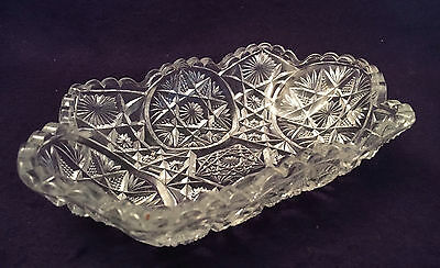 EAPG Antique Pattern Glass TEN-POINT STAR RELISH DISH Variant Bryce Higbee