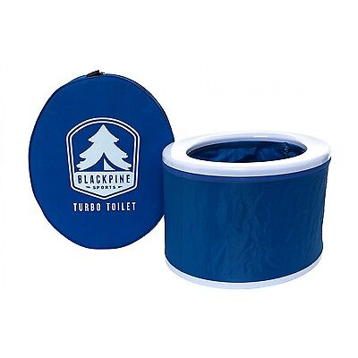 Black Pine Turbo Toilet, Blue, Collapsible, Outdoor, Boat, Camping Potty, 30015