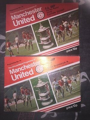 Manchester United FA Cup 3rd Replay And 4th Round 1978 Programs