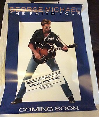 George Michael Original ULTRA RARE 1988 'The Faith Tour' Poster California USA