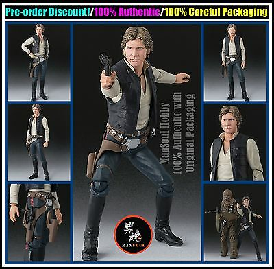 MSH Pre Order BANDAI S.H.Figuarts Star Wars Han Solo A New Hope Action Figure