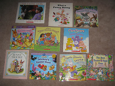 Lot of 10 Easter Picture Books for Children Mickeys Easter Hunt Lift Flap BunnyH