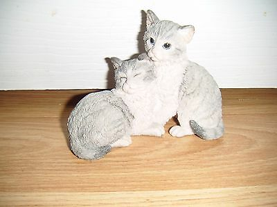 Country Artists 2 Grey Cats Figure ~ 1993 ~ K Sherwin ~ Excellent