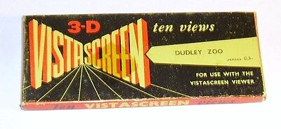 vintage Dudley Zoo set of 10 Vista Screen 3-D viewer cards