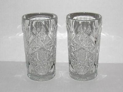 EAPC Early American Prescut Iced Tea Tumblers Star of David Anchor Hocking