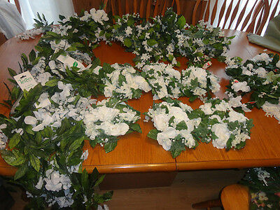 4 Your Home Interiors  26pc Lot White Flowers Garlands/ Candle Rings & Accents