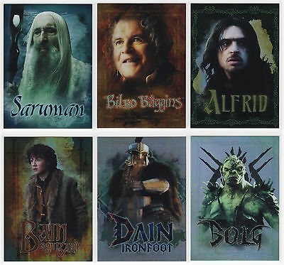 2016 Cryptozoic The Hobbit: Battle of the Five Armies 6 Character Bio Chase Set