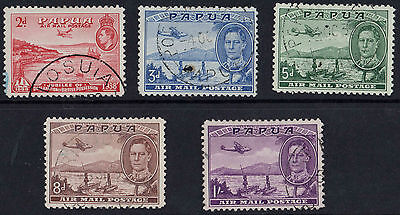 Papua  1939 Air Set Of 5 Stamps  Fine Used