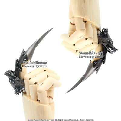 Fantasy Iron Reaver Wolf Claw Finger Blade Knife Glove