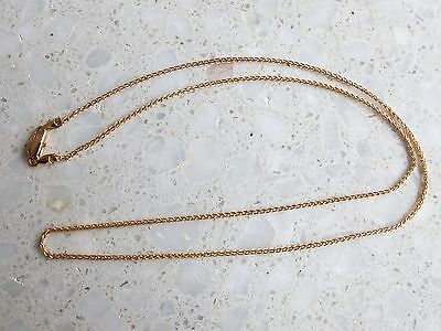 "9ct yellow Gold fine plaited rope Chain necklace 2.4g 18"" long"