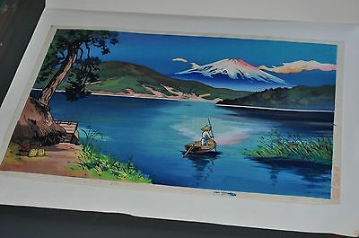 Vintage Japanese Original Woodblock Print from the 1940's -- #10
