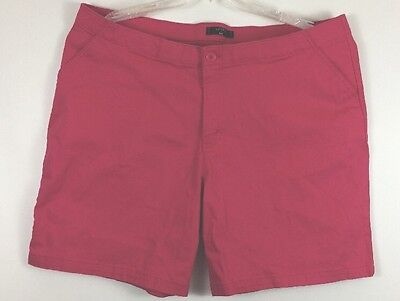 Riders By Lee Women's Shorts Casual Flat Front Plus Hot Pink Size 22W t2