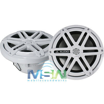 "NEW JL AUDIO® MX770-CCX-SG-WH 7.7"" 2-Way MARINE COAXIAL SPEAKERS w/ SPORT GRILLS"