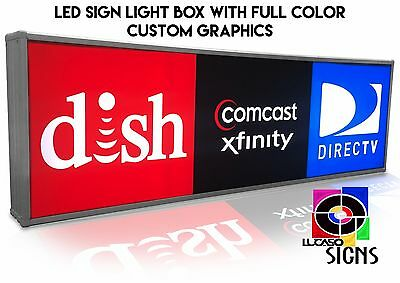 "Light Box LED Sign 72"" x 22"" with CUSTOM Graphics, Outdoor Commercial Grade"