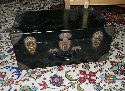 Vintage Black Metal Trunk