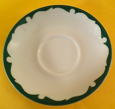 Shenango China New Castle Pennsylvania Restaurant Ware Saucer White Green