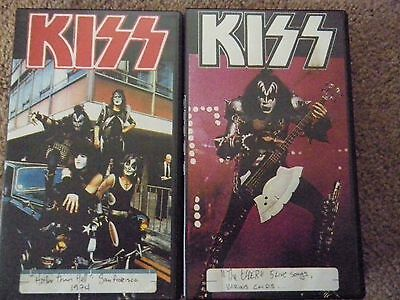 Lot of 2 KISS Bootleg VHS Tapes