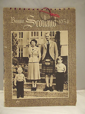 Vintage Bonnie Scotland Calendar 1954 The Royal Family Complete Queen Charles