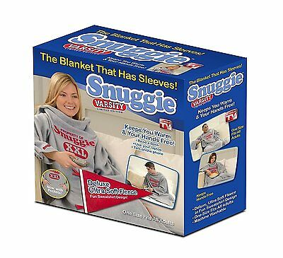 VARSITY SNUGGIE NEW Blanket with Sleeves Limited Edition