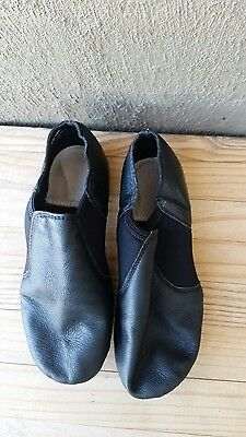 Leather Upper Quality Black Jazz Shoes size 12
