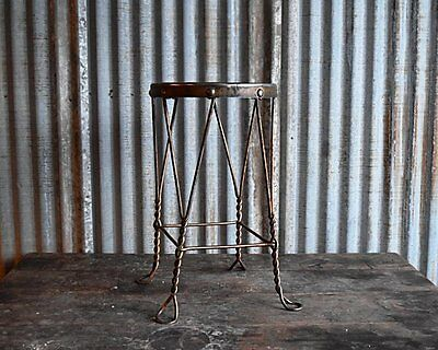 1930's Chicago Wire Chair Co. Ice Cream Parlor Stool