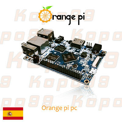 Orange Pi PC H3 Quad-core 1GB DDR3. Equivalente a Raspberry Pi 2