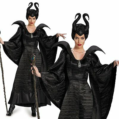 Maleficent Evil Queen Halloween Cosplay Costume Disney Adult Party Fancy Dress