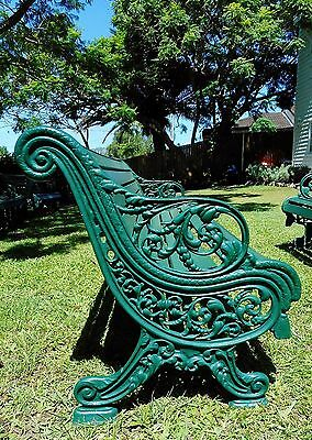 An original Victorian Antique Cast Iron Garden Bench. English 1880's-2 available